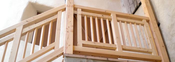 Carpenteria kollmann balconi ringhiere verande e tettoie - Ringhiera in legno per giardino ...